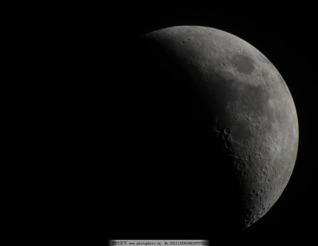 月亮图片,月球 放大月亮 上弦月 弯月 陨石 摄影-图行