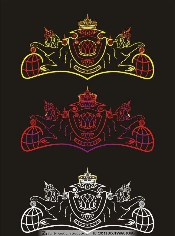 皇家标志 欧式logo 高档 狮子轮廓 徽章 皇冠 皇室 企业标志 黄色标志