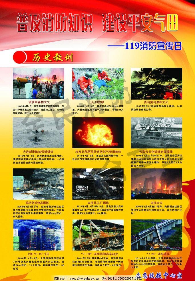 消防案例 近几年的消防事故 火焰 火苗 展板设计 线条 展板模板 广告