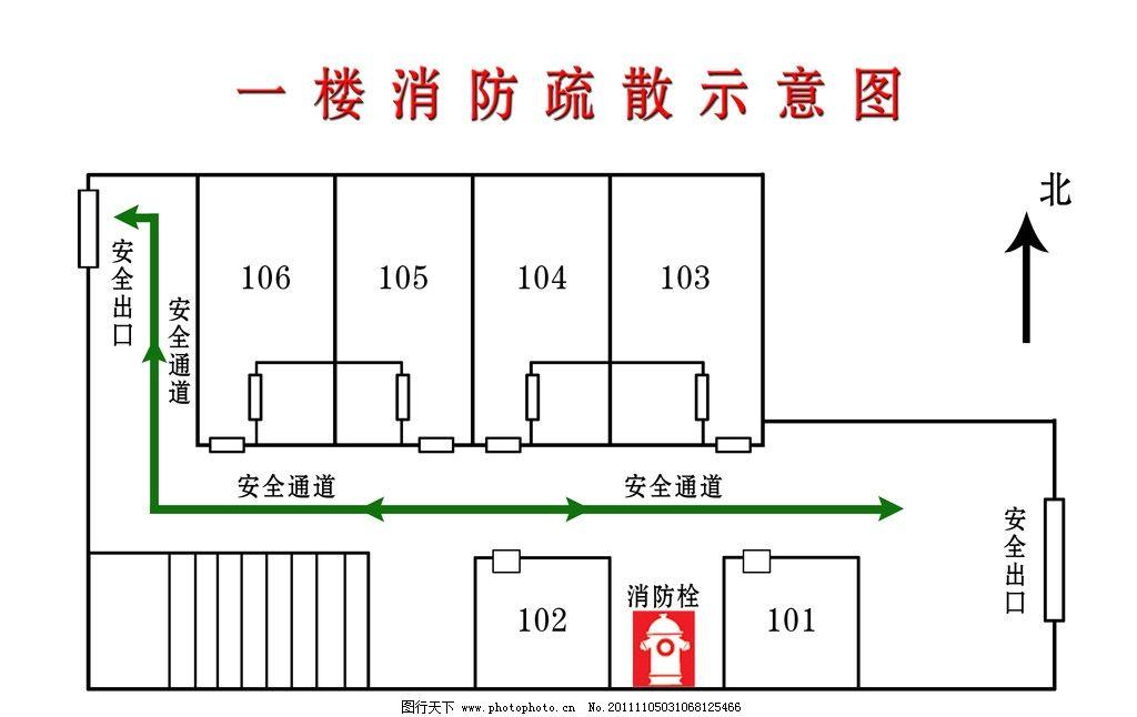 疏散示意图 分层 消防 平面图 室内 效果图 楼道 线条 矢量图
