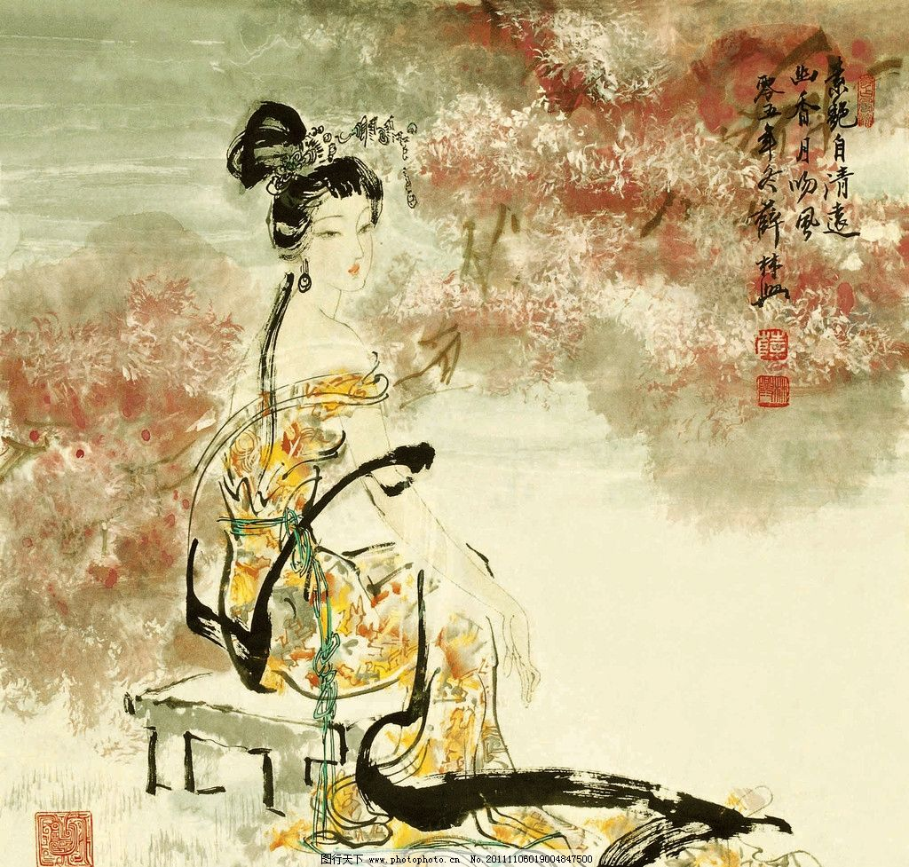 中国古代四大美女人偶
