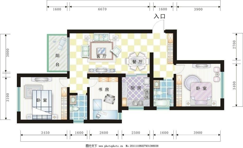 室内设计平面图 室内设计