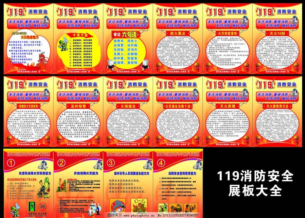 119消防宣传展板大全图片