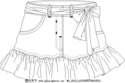 cdr矢量图 半身裙模板 裙子图片 矢量图片 矢量图下载 图案