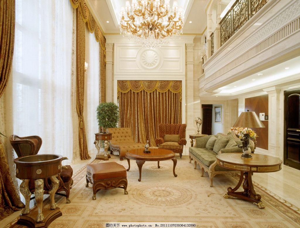 陶瓷效果图 别墅 客厅 欧式 抛光砖 瓷砖 室内摄影 建筑园林