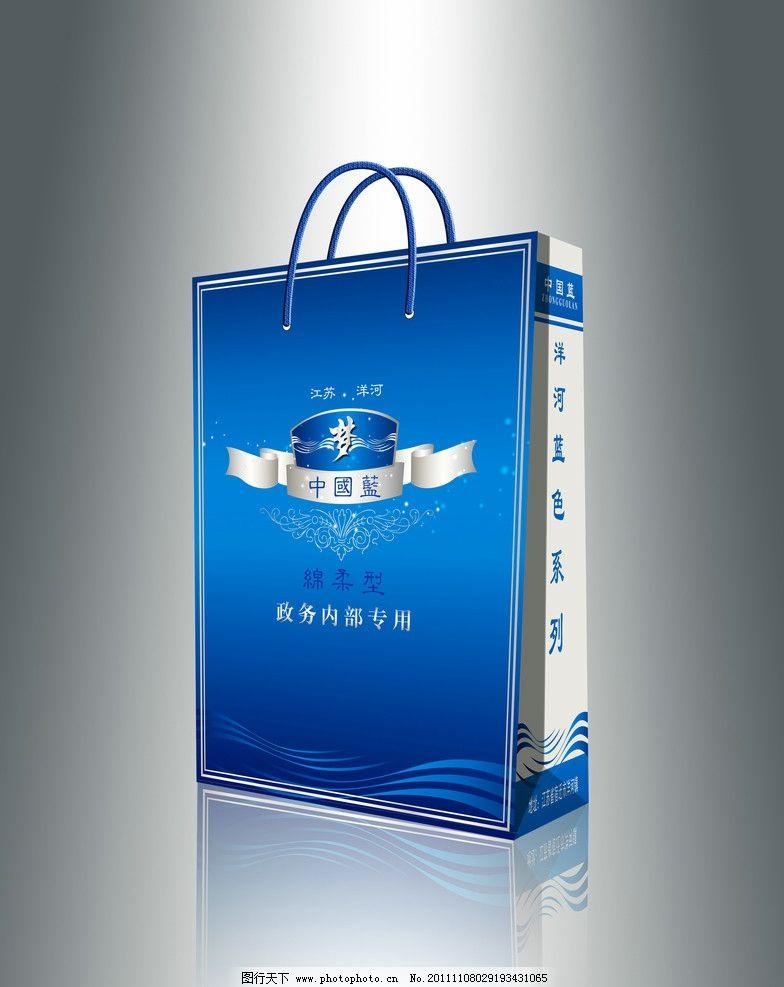 蓝色梦手提袋 手提袋 蓝色 梦 中国蓝 包装设计 广告设计 矢量 ai