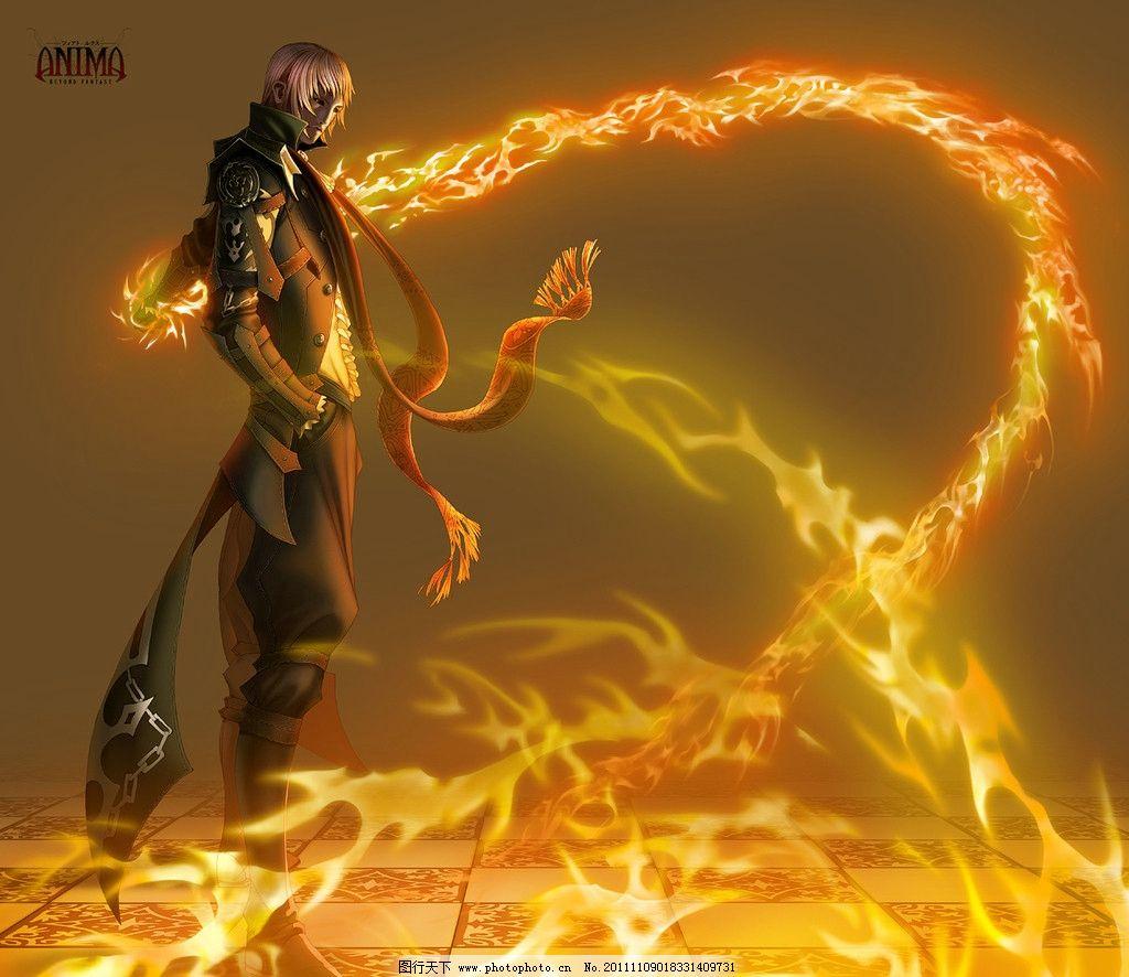 人物 战神 战神背景 壁纸 酷 帅气 动漫人物 动漫动画 火点 设计 122