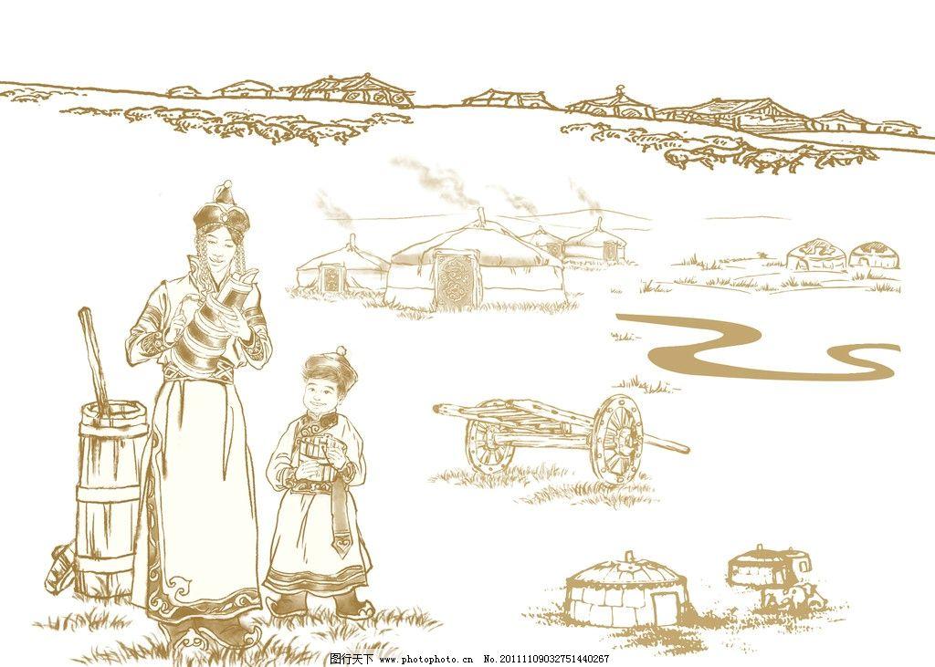 蒙古包矢量图