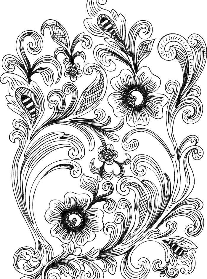 边框 古典 黑白 花朵 花纹