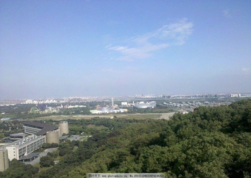 上海 风景区 国家森林公园 山 树 山顶 佘山 东佘山 酒店 世茂 欢乐谷