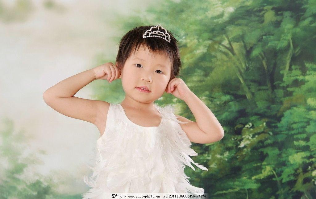 天鹅小女孩 天鹅 小女孩 可爱 时尚漂亮 美丽 儿童幼儿 人物图库 摄影