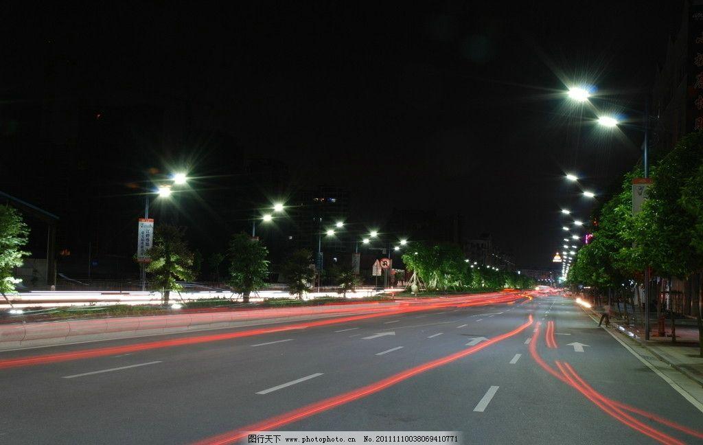 led路灯实景图 led led路灯