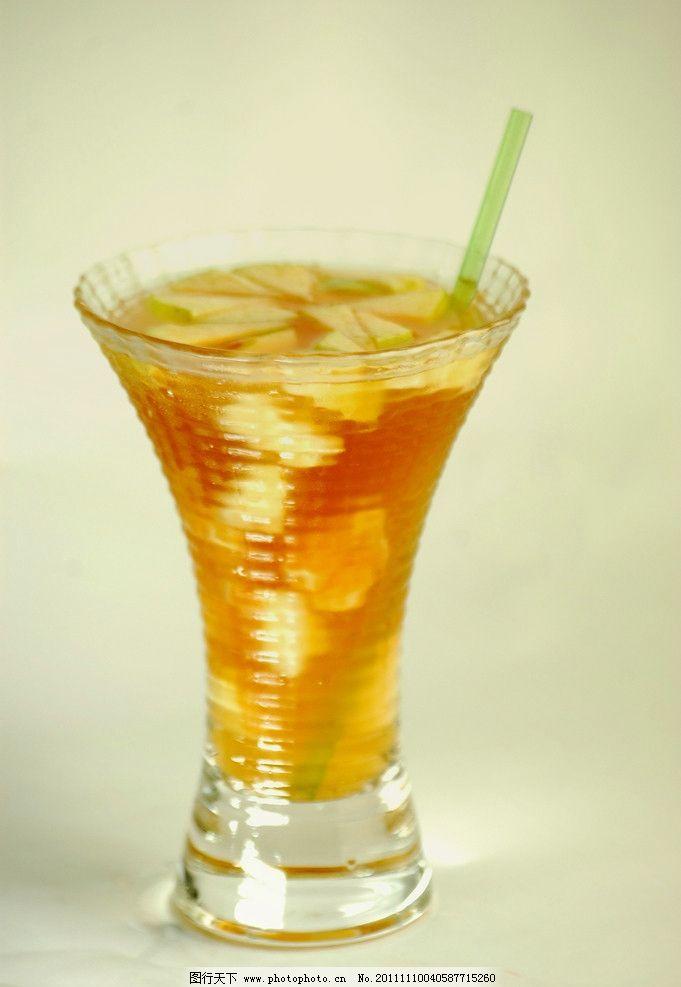 冰水冲咖啡_冰水果茶 饮料 玻璃杯 碎蝶咖啡饮品 摄影