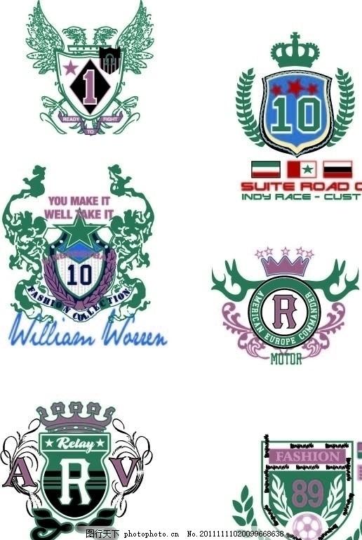 服装设计 设计手稿 流行趋势 保罗标 马球 船桨 马 五角星 皇冠 英国