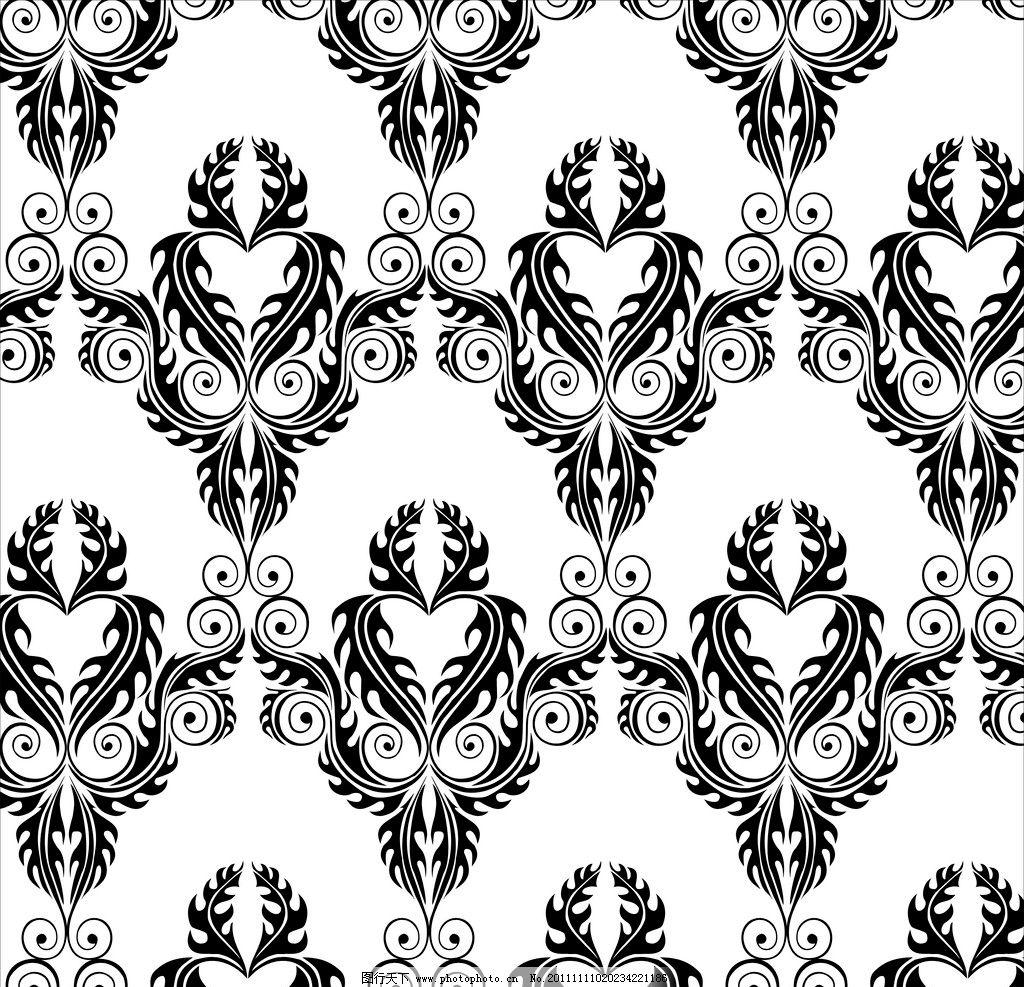 暗纹花纹 古典花纹 欧式花纹