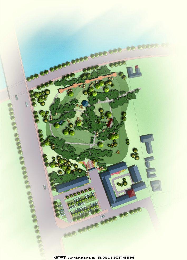 園林景觀彩色平面圖 環境藝術 景觀彩色總圖 小區設計 歐式 規劃總圖