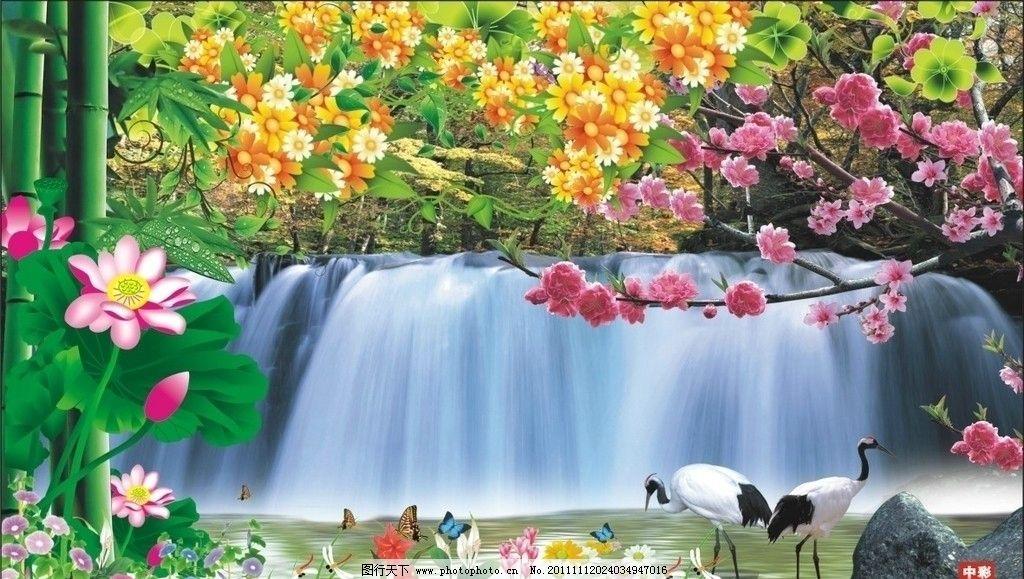 电视墙背景 墙纸 壁画 壁纸 个性墙纸 山水画风景画 山水风景 自然