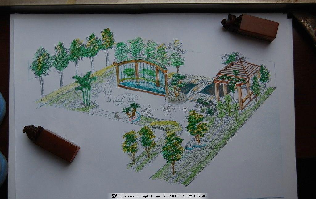 景观设计 园林庭院手绘 美术绘画 文化艺术 摄影 300dpi jpg