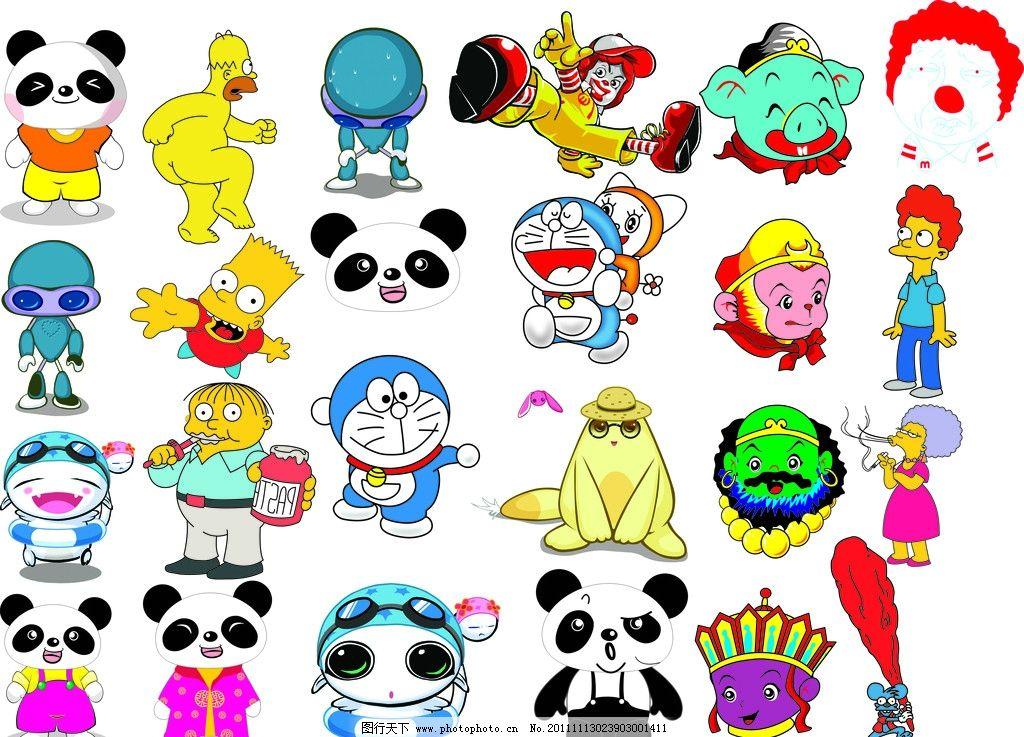 功夫熊猫 熊猫各种表情设计 熊猫形象 可爱熊猫 西游记头像 卡通 唐僧