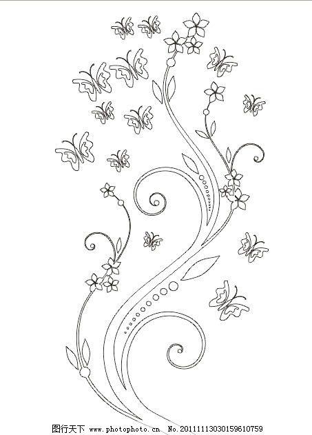 墙贴 矢量墙贴 唯美 韩国 壁画 淘宝 简约 韩式 卡通 可爱 蝴蝶