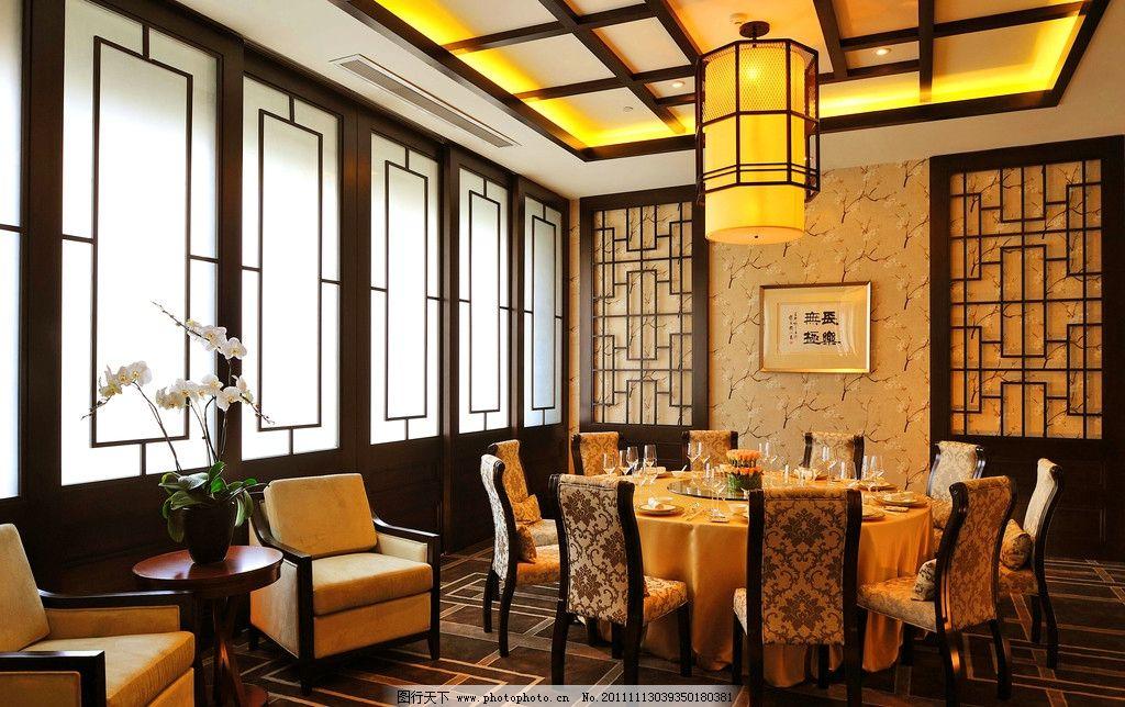豪华酒店 酒席 餐厅 中式 包厢 地毯 书法 古董 花艺 鲜花 家具设计