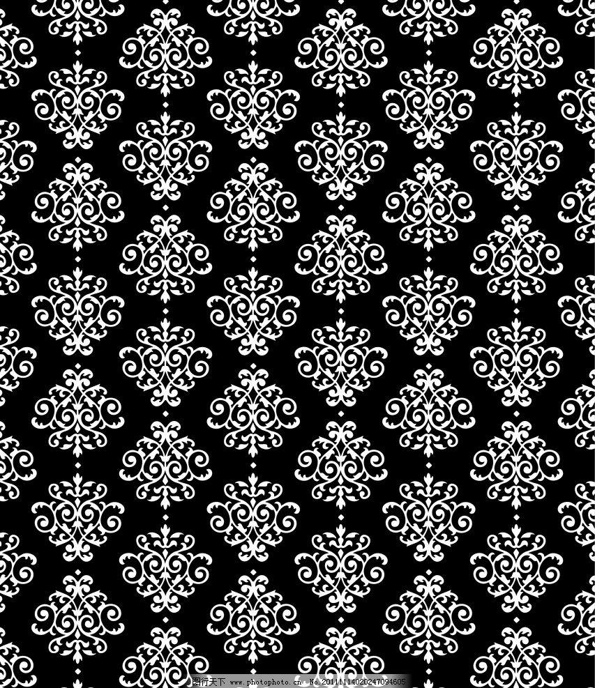 传统的黑白花纹 花纹 黑白 古典纹样 传统图案 背景底纹 底纹边框
