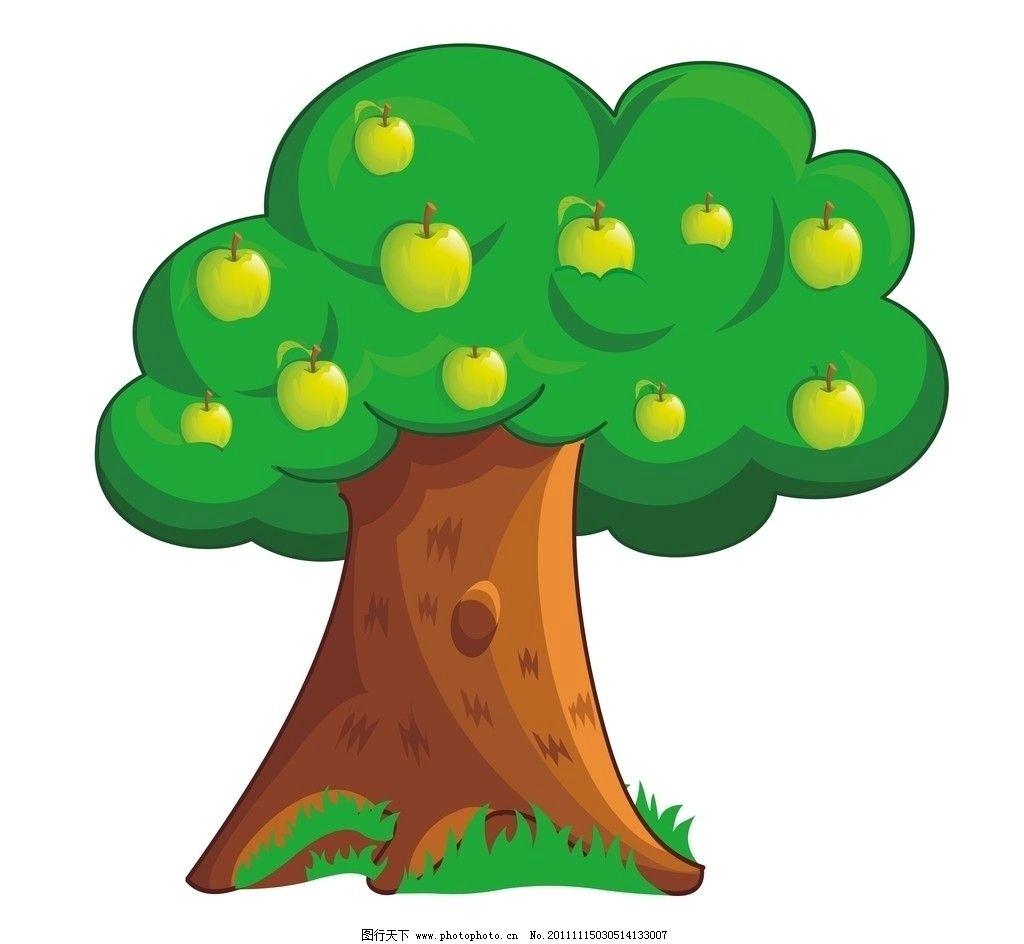 卡通苹果树 卡通 苹果