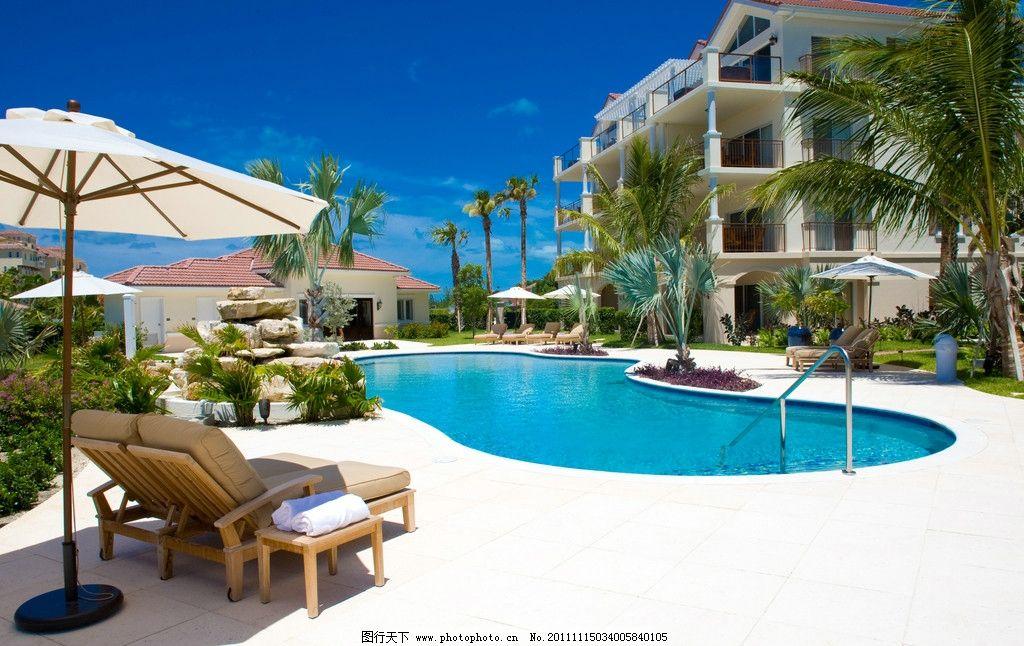 豪华度假别墅游泳池图片