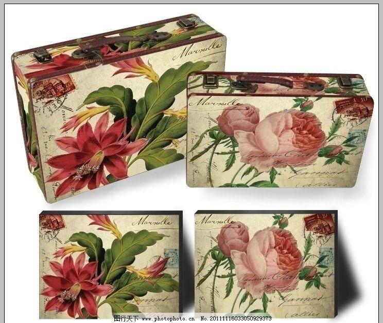 关于花朵的手绘邮票