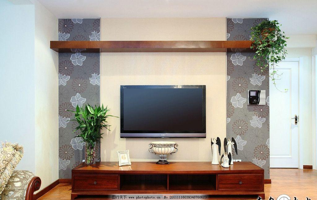 室内摄影 别墅 电视柜 电视背景 地板 家俱 欧式家俱 家居生活