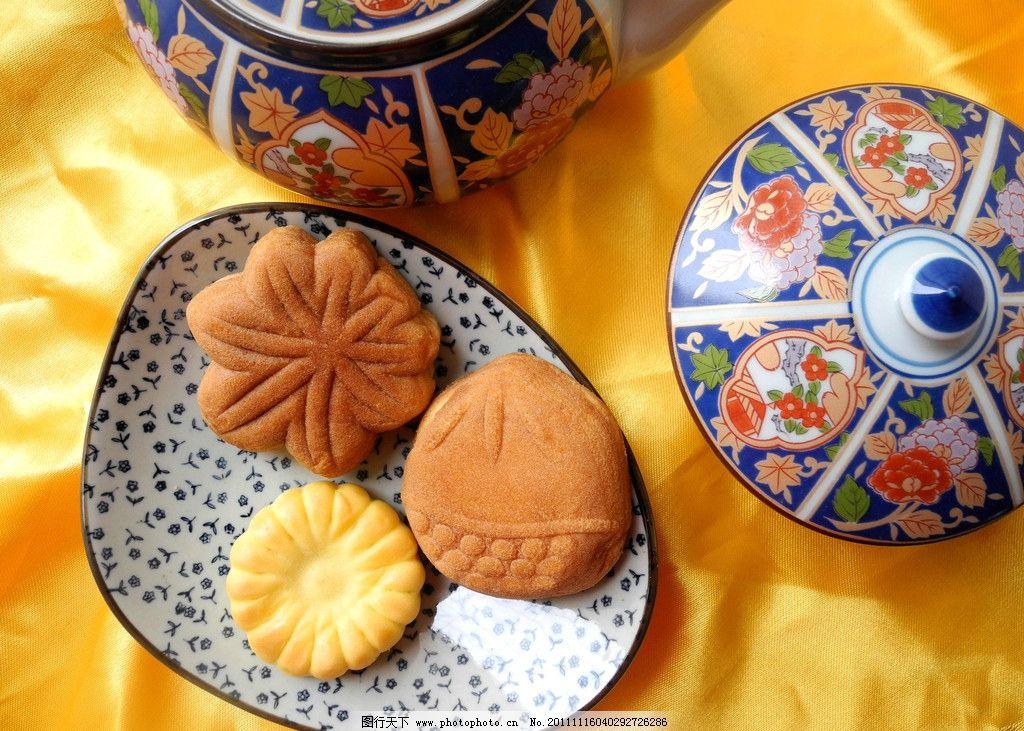 糕点系列 日式点心 烘烤点心 风味柏饼 手工制作 外形精致 中华美食