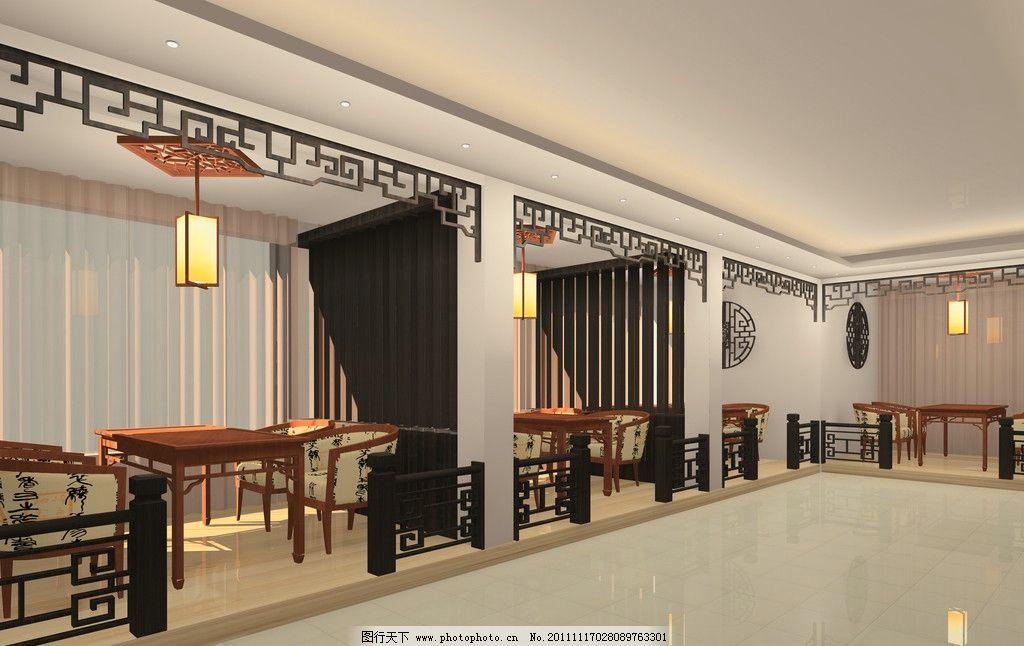 中式茶樓圖片,茶室 茶餐廳 茶館 隔斷 效果圖-圖行