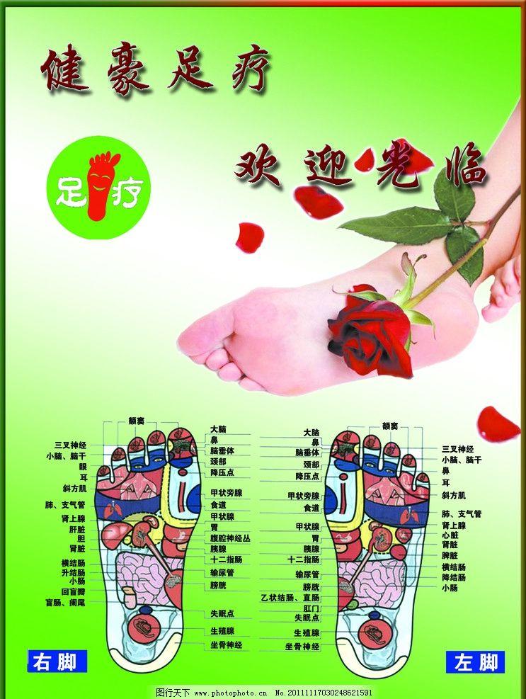 足疗展板 足疗 足底穴位图 脚 健康教育 健康教育展板 足疗穴位图