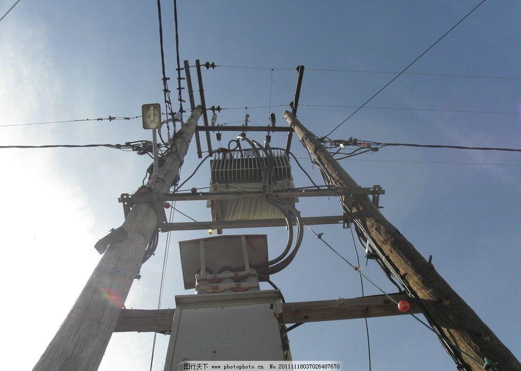 高压线电线杆图片