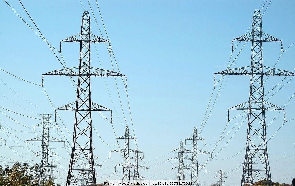 电线塔 电线 高压线 输电塔