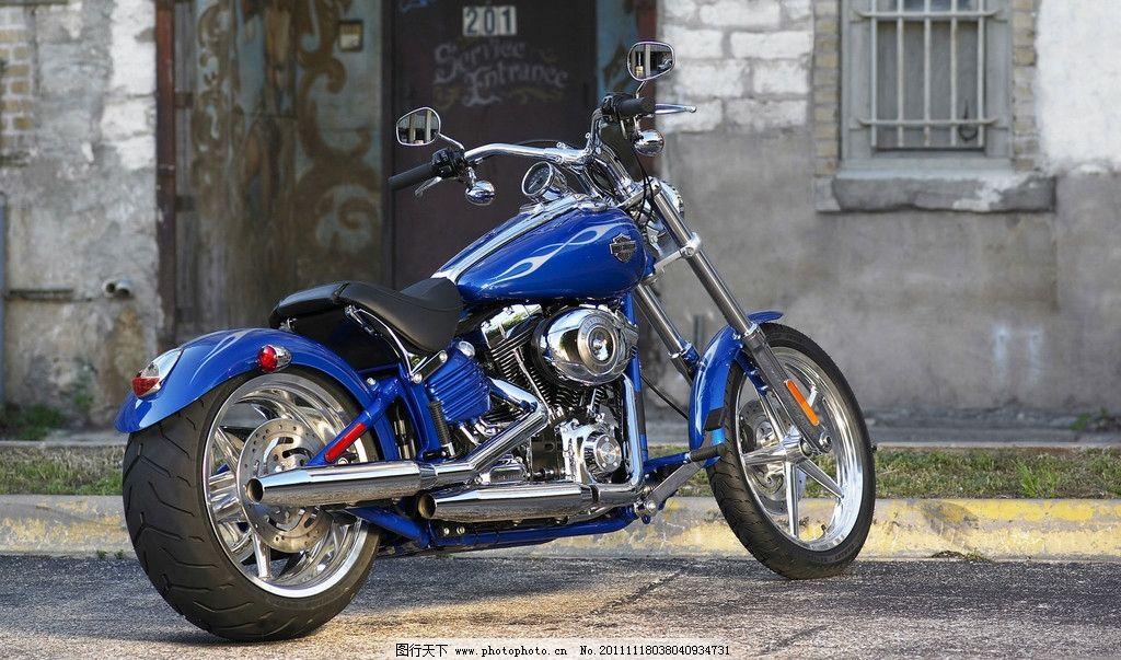 哈雷 摩托车 哈雷摩托车 重型摩托车 双缸发动机 双排气管 电子点火