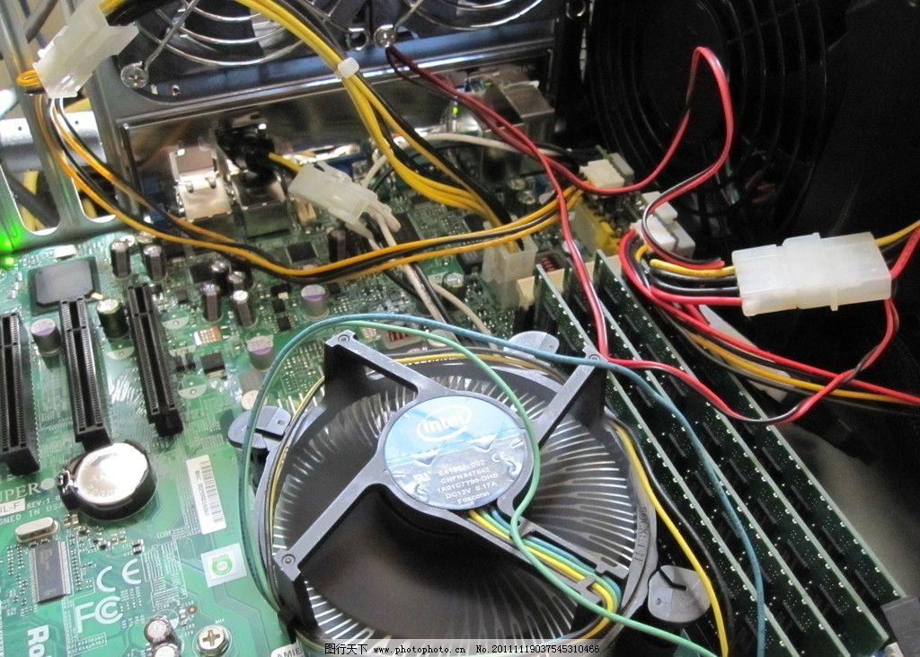内部 构造 组装 风扇 配件 零件 电路板 母板 主板 电脑网络 生活百科