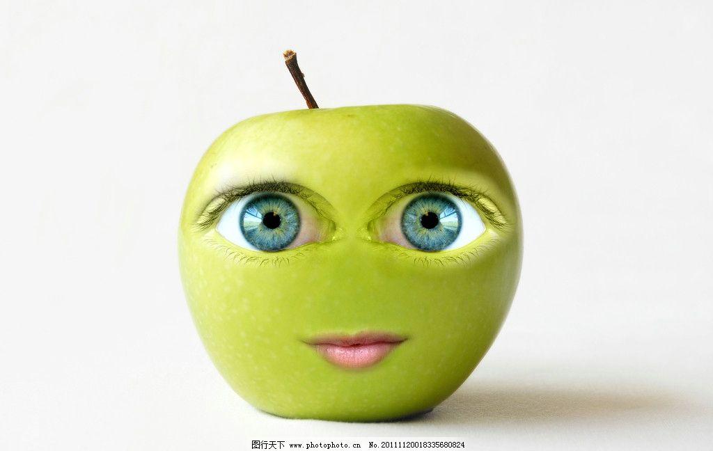 可爱苹果卡通造型图片图片