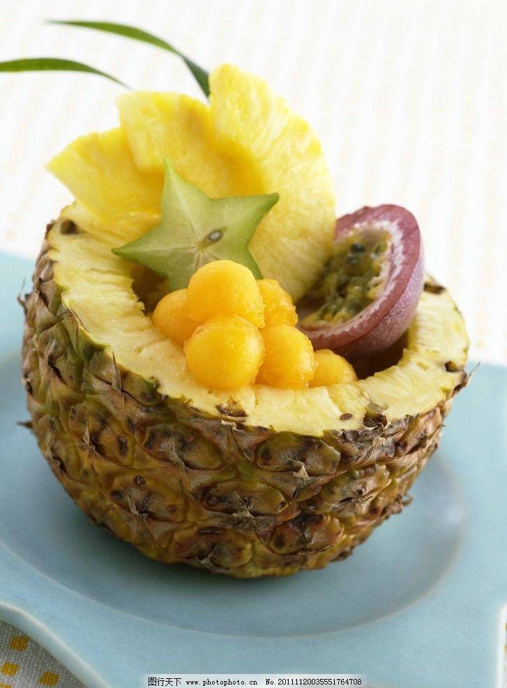 水果拼盘 菠萝 火龙果 杨桃 水果 拼盘 营养 生物世界 摄影 350dpi图片