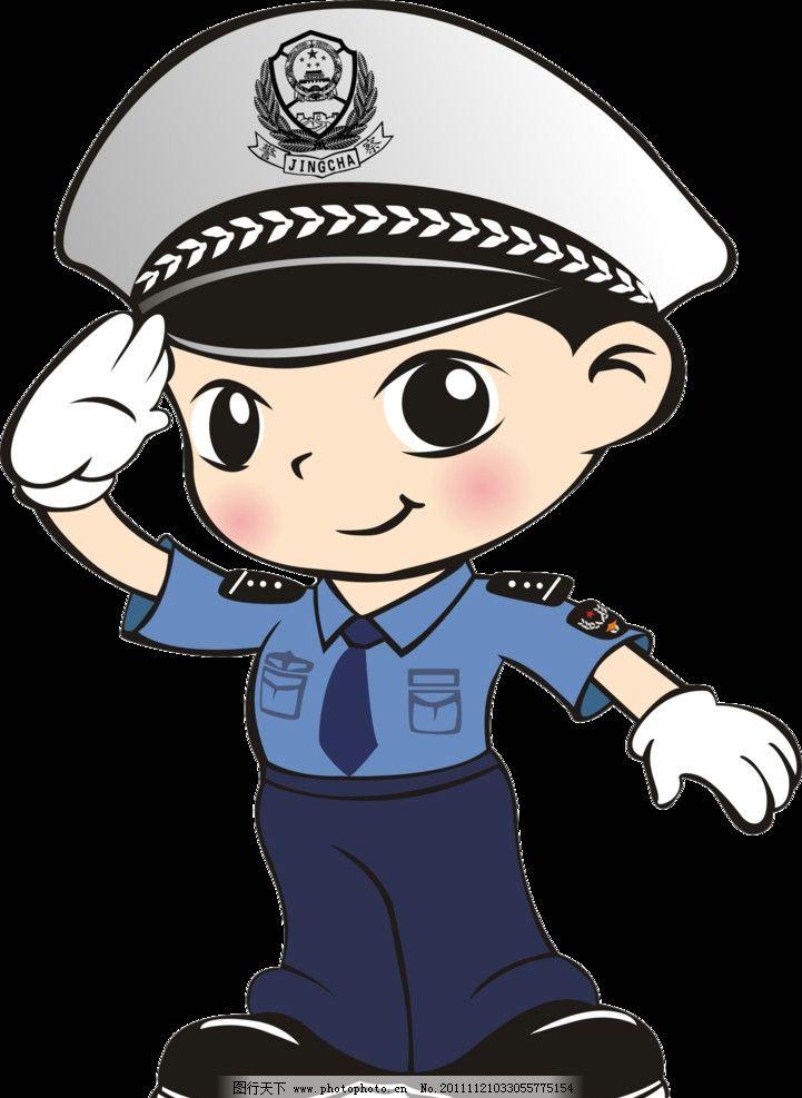 警察 交警 交通局贺卡 源文件