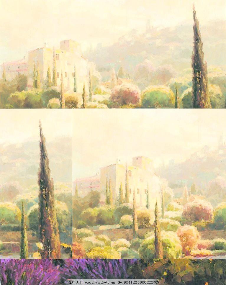 欧式风景油画图片