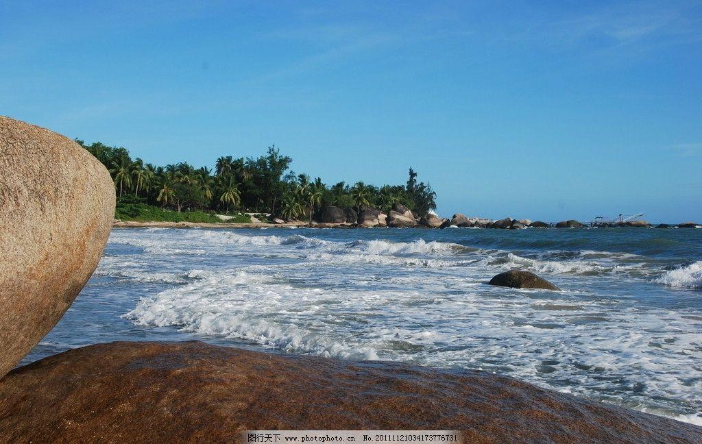 海南风光 海南 蓝天 大海 浪花 绿树 石头 自然风景 旅游摄影 摄影 30