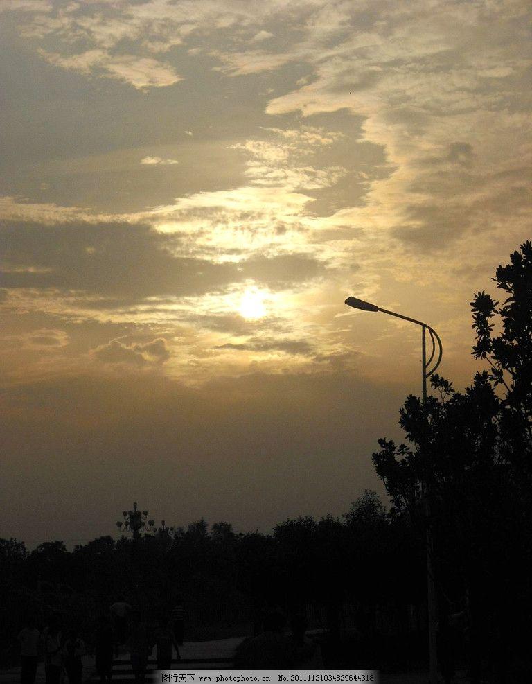 晚霞 半晚 乌云 自然风景 自然景观 摄影