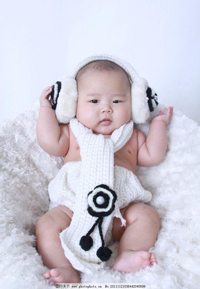 可爱宝宝图片,小孩 萌 围巾 胖娃娃 胖嘟嘟 宝贝-图行