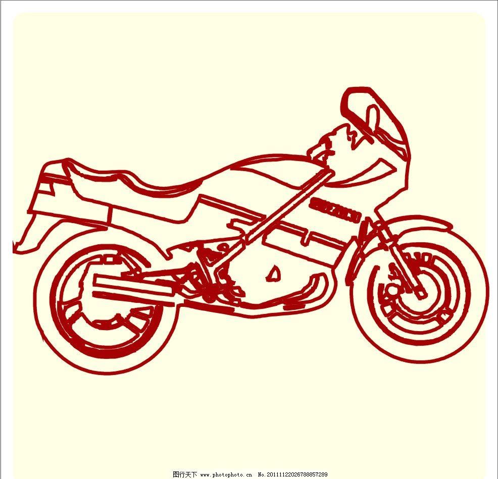摩托车 摩托 cdr 矢量