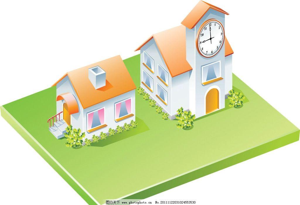 建筑矢量图图片