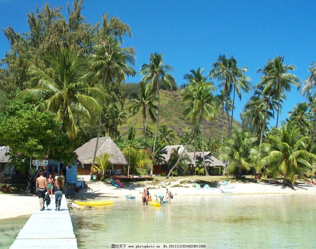 设计图库 自然景观 旅游摄影  夏威夷海岛度假胜地别墅酒店 夏威夷 海