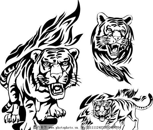 霸气老虎纹身手绘分享展示