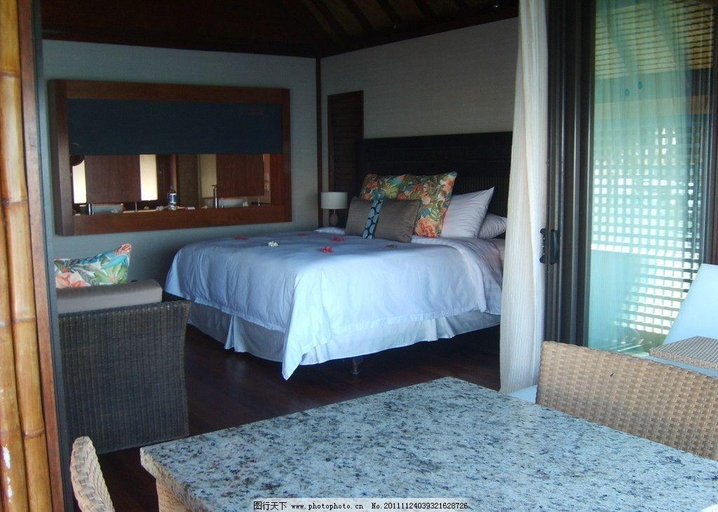 度假宾馆室内设计 度假 宾馆 室内 设计 双人床 旅店 旅馆 台灯 南亚