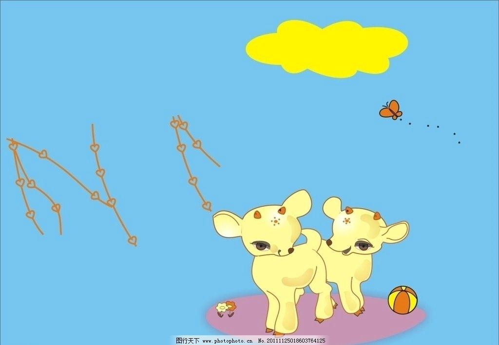 卡通小鹿图片